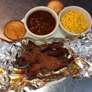 Ribs Beans and Corn